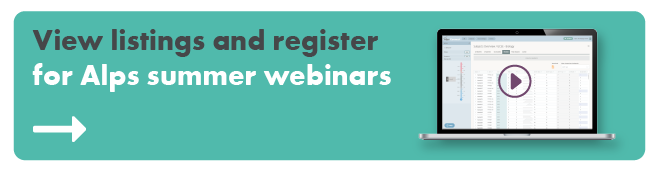View listings and register for Alps summer webinars