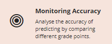 Monitoring Accuracy button